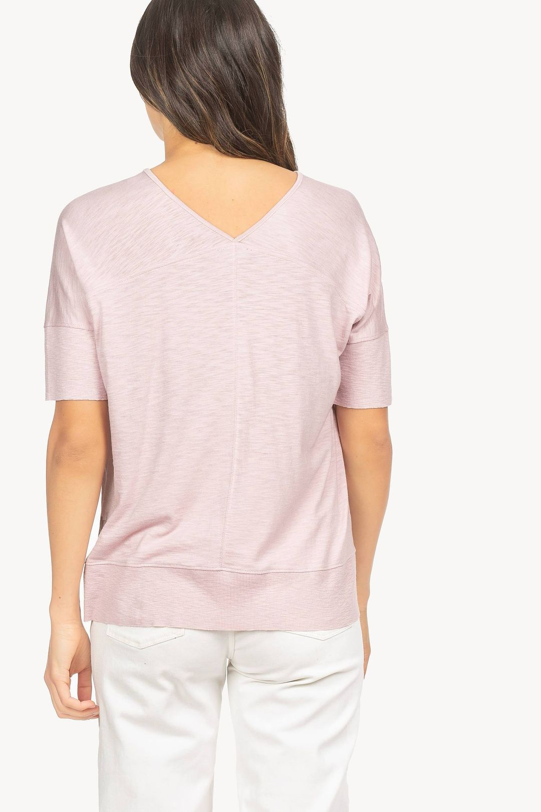 Easy Double V-Neck Top