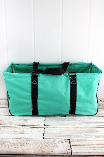Mint Collapsible Haul-It-All Basket with Mesh Pockets