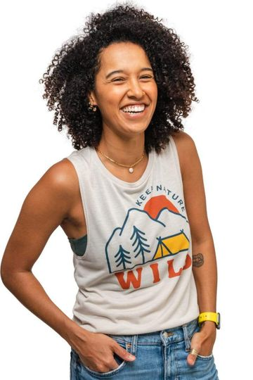 Campsite Women's Muscle Tank | Dust