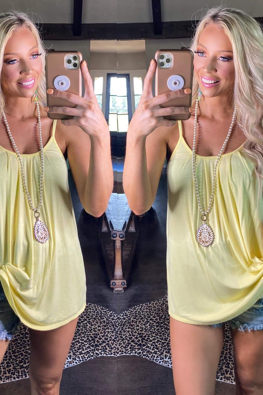Round Neck Ruched Cami Tank Top {8 COLORS AVAIL}