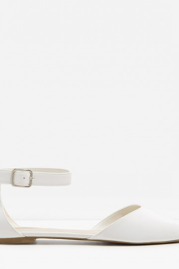 POINTED ANKLE-STRAP FLATS