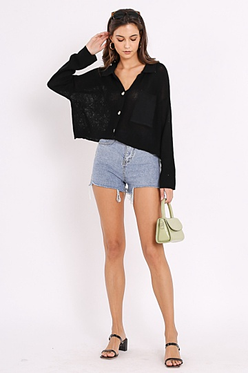 *PRE-ORDER* KACEY KNITTED TOP (BLACK)