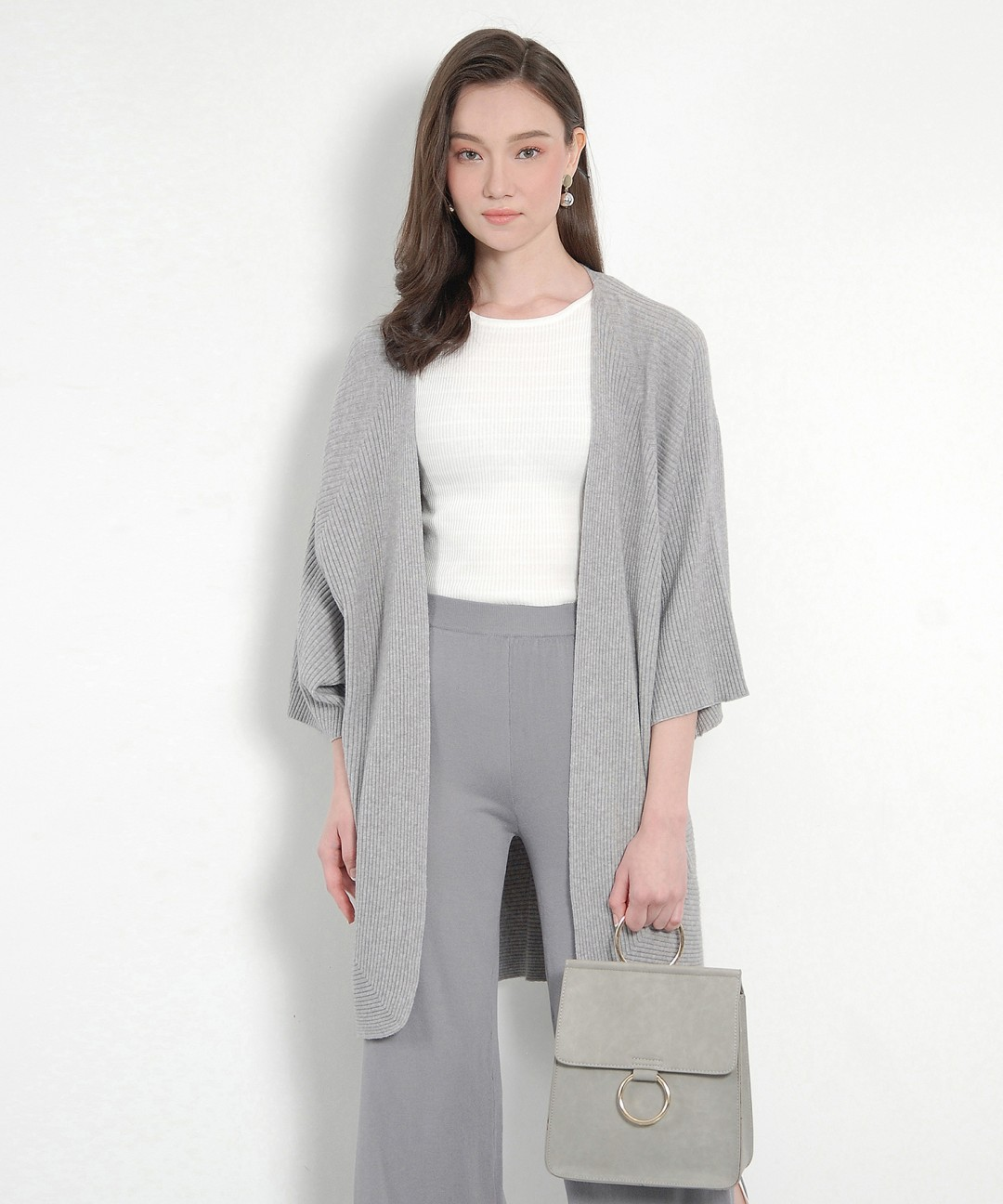Elton Cardigan - Pale Grey - ShopperBoard