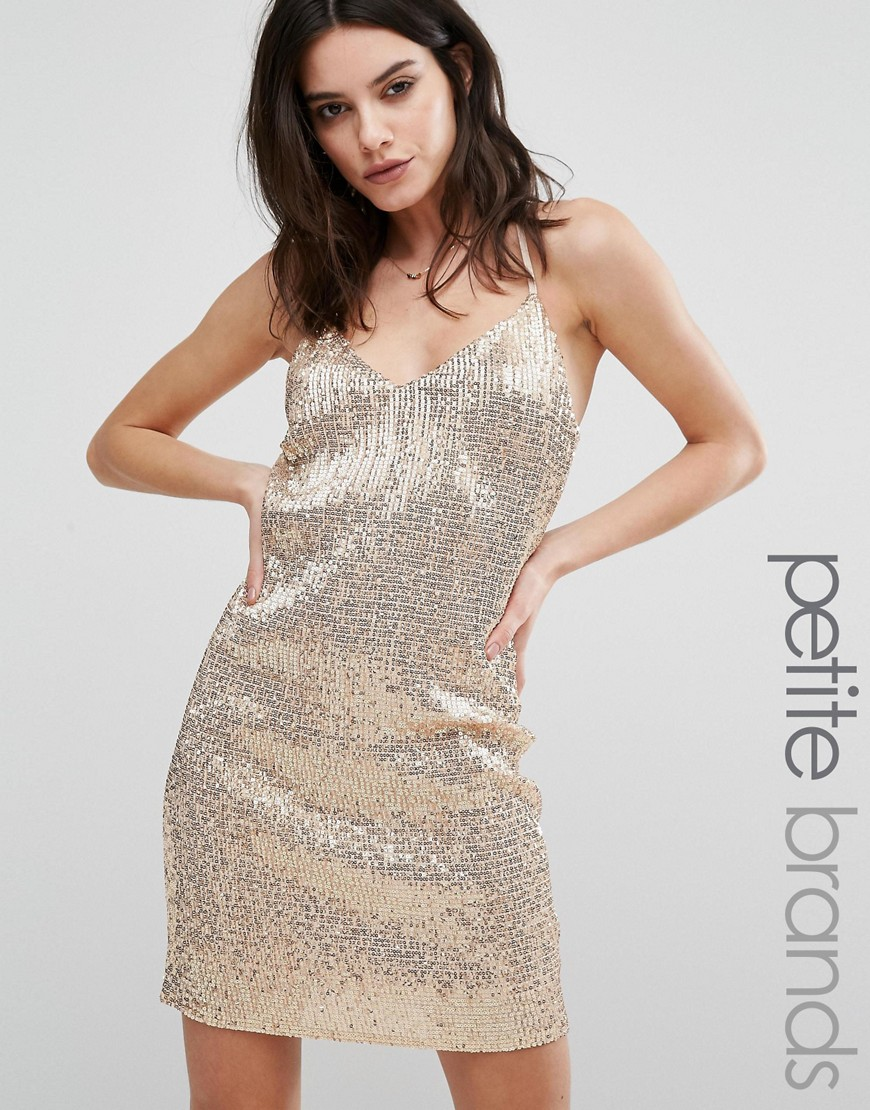 65969ef3 New Look Petite All Over Sequin Mini Dress - ShopperBoard