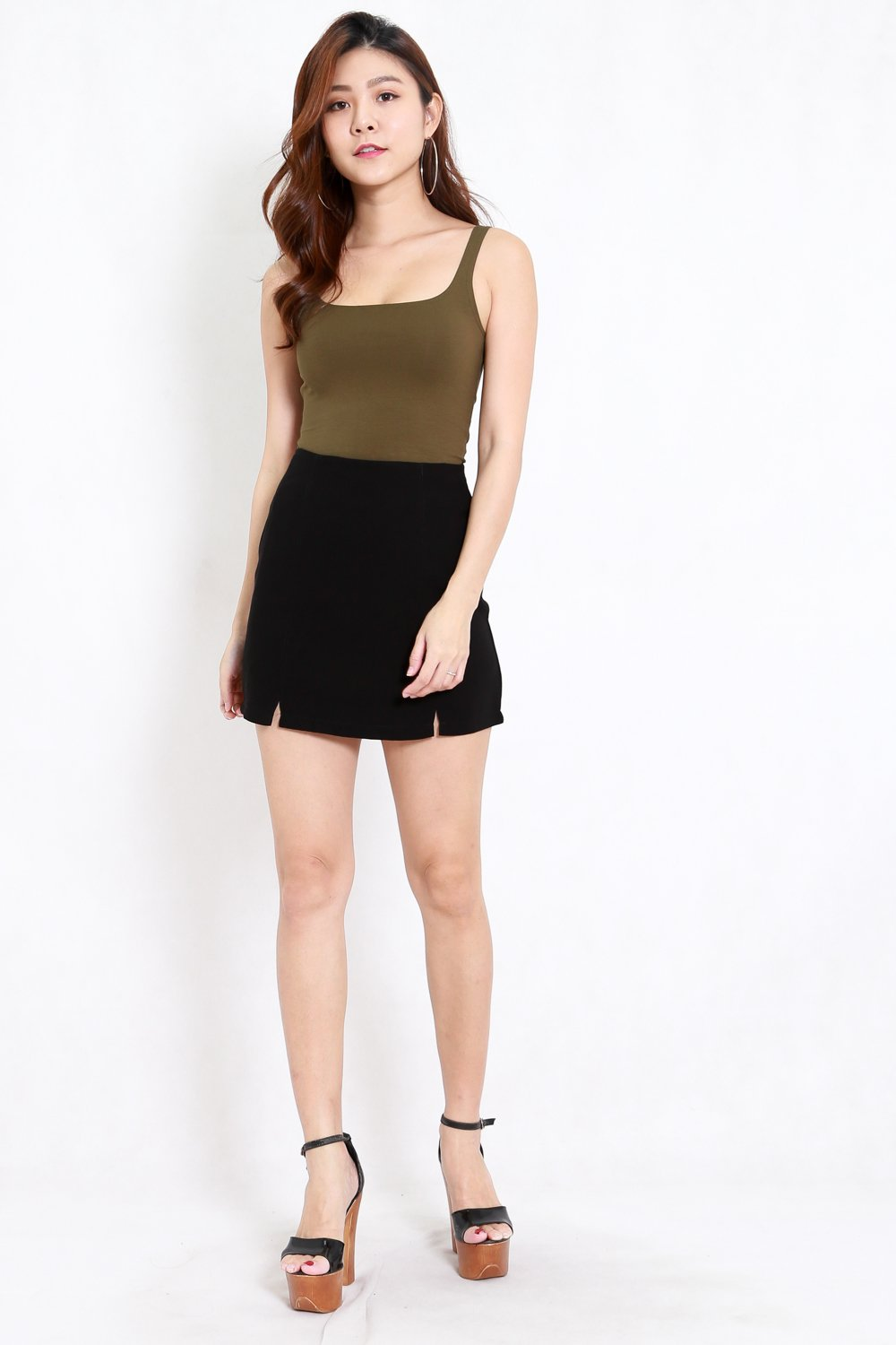 Scoop Neck Top (Olive)