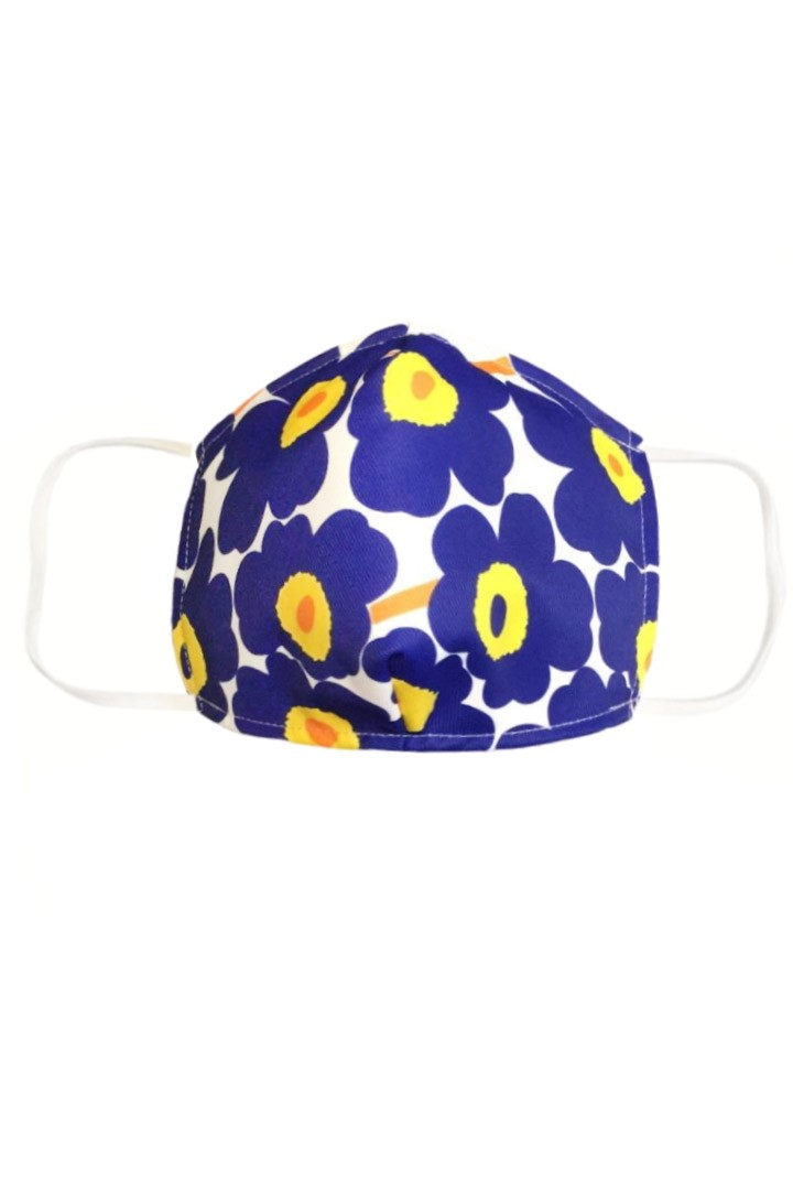 Big Flower Mask in Blue Yellow - Kid Size
