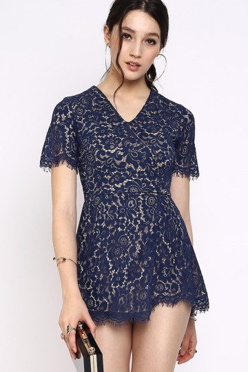ALL ABOUT THAT LACE ROMPER (ROYAL BLUE)