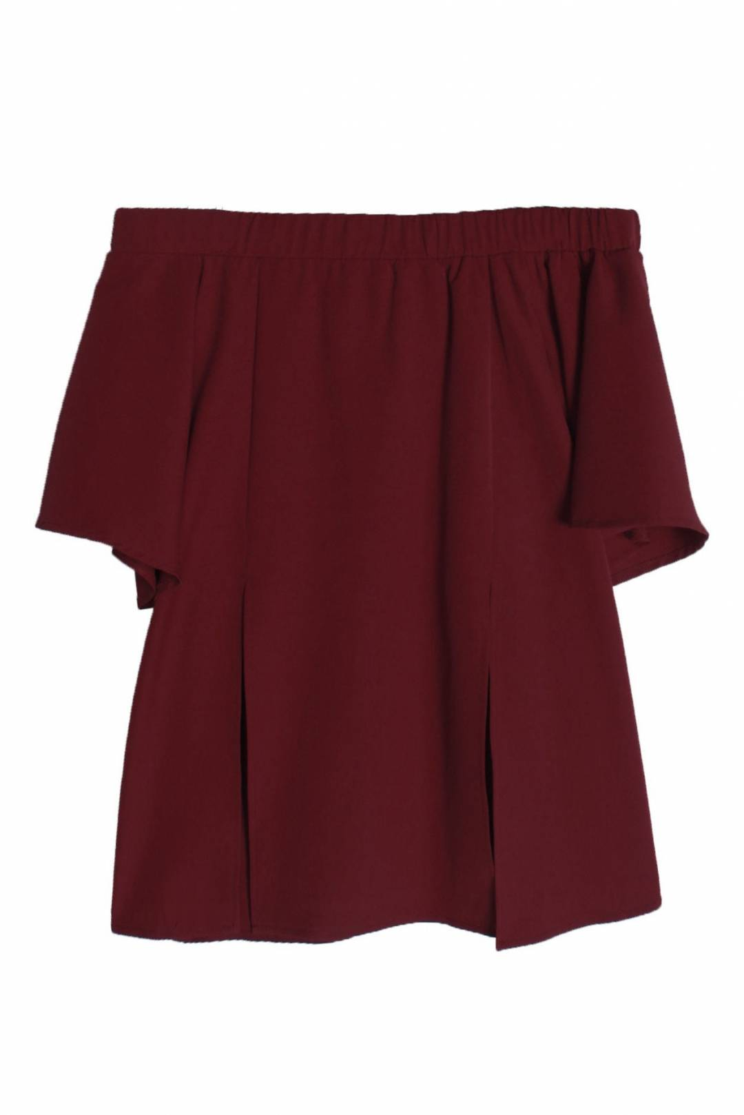 Double Trouble Top in Maroon