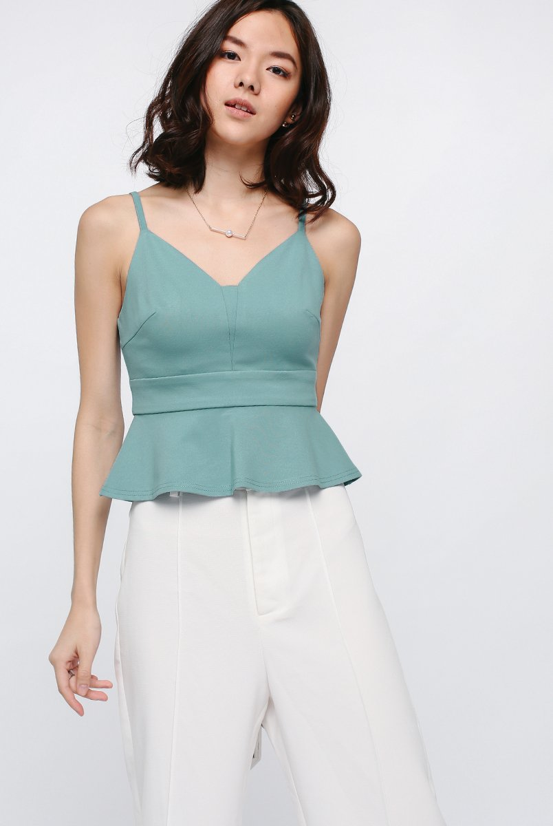 Inaya Peplum Crop Top