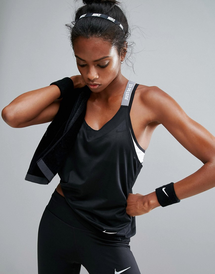 Clearance Outlet Locations Nike Elastika Strappy Tank In Black - Black Nike Offer Shopping Online Outlet Sale Ks9CpAi