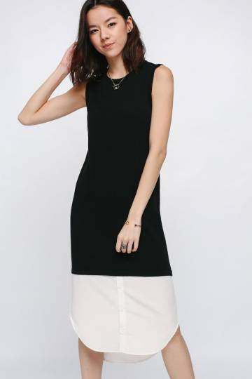 Abbry Shirt Underlay Knit Midi Dress