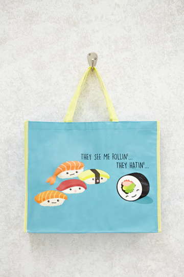They See Me Rollin Graphic Tote
