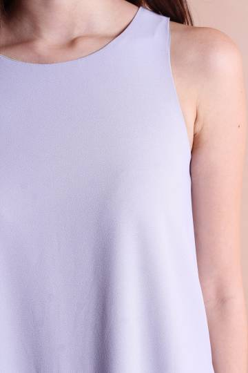 RESTOCKED** NM BASICS BERNETTE POCKETFUL TRAPEZE IN PERIWINKLE GREY [XS/S/M/L]