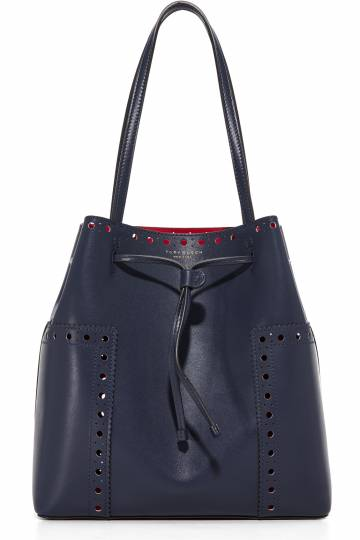 Block T Brogue Bucket Tote