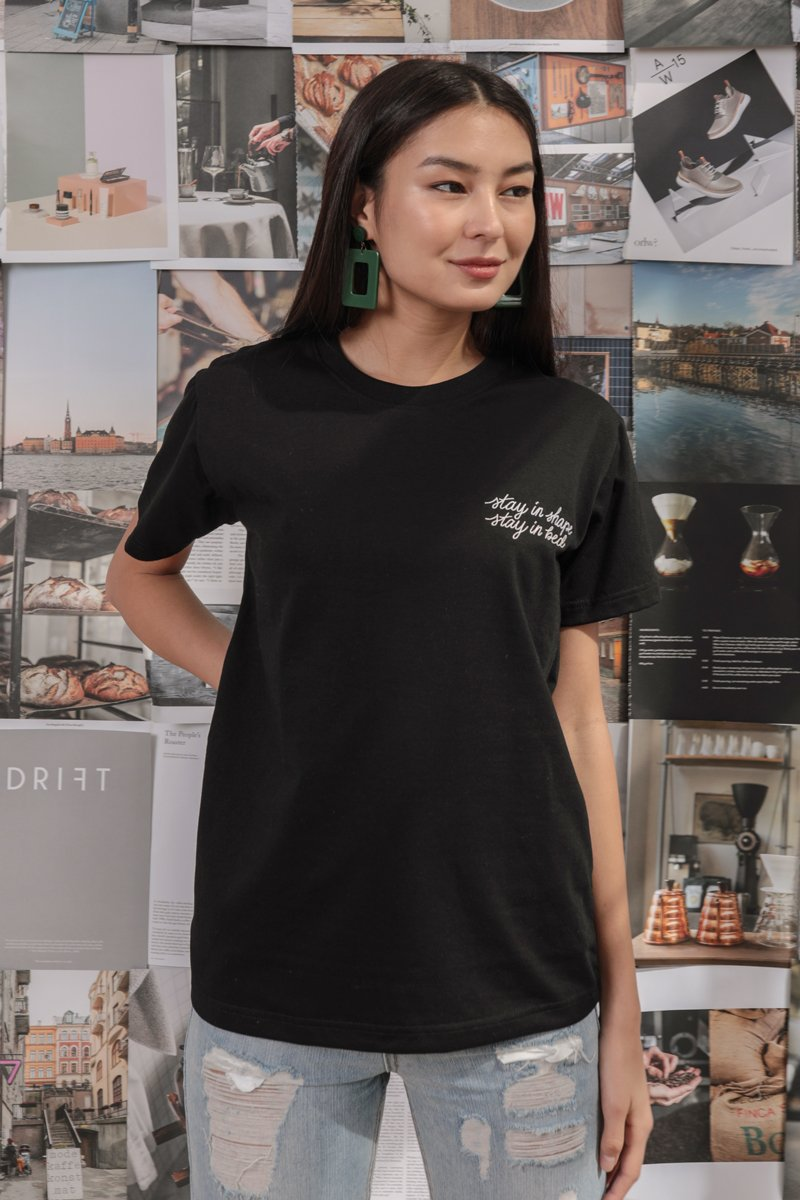 Stay In Bed Tee (Black)