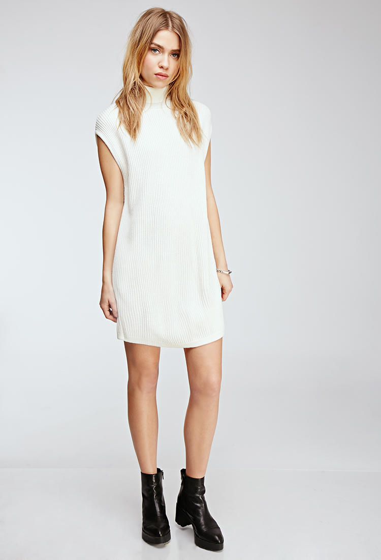 6870f324b570 Ribbed Turtleneck Sweater Dress. From Forever 21