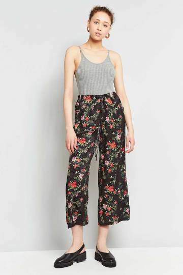 Light Before Dark Floral Satin Culottes