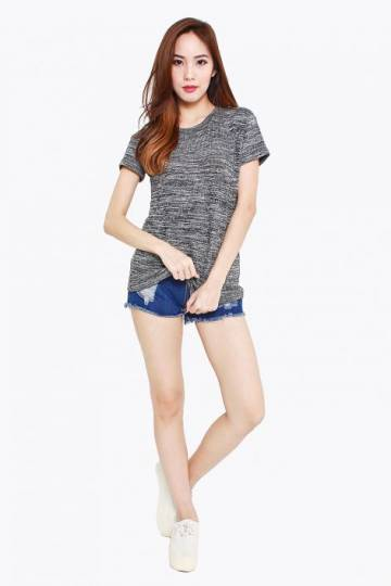 Hallmark of Tweed Basic Tee Dark
