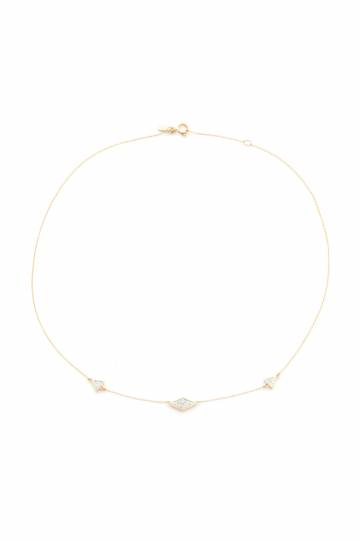 Pave Triangle Chain Choker Necklace