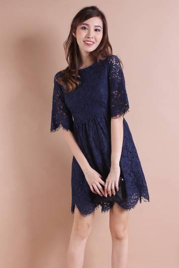 ALLURE VICTORIAN RAW LACE HEM DRESS [S/M/L]