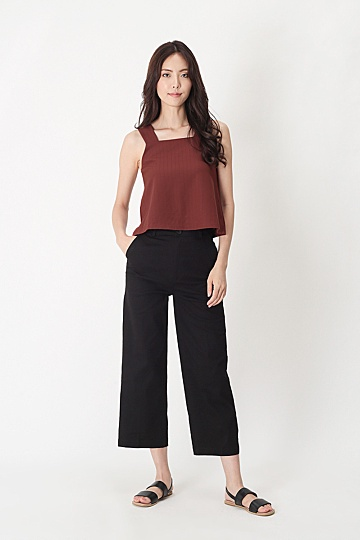 MIKA STRAIGHT CUT CHINOS IN BLACK