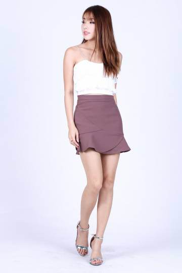 *RESTOCKED* ELYSIA SKORTS IN MULBERRY