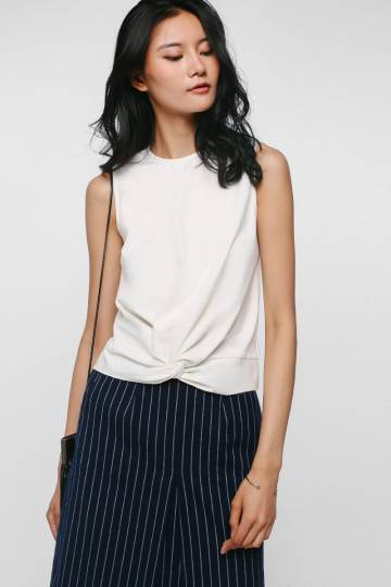 Tyline Twist Front Knit Top