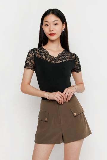 Delphy Lace Basic Top