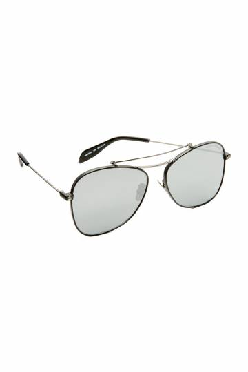 Piercing Flat Lens Aviator Sunglasses