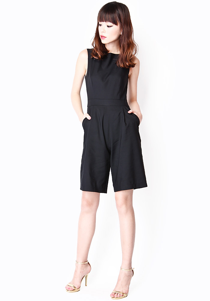 de747e88287 HARRISON LONGLINE ROMPER IN BLACK - ShopperBoard